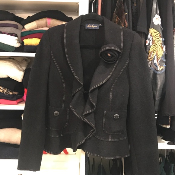 4db05d42e25 luisa spagnoli Jackets & Coats   Black Blazer Size 44   Poshmark